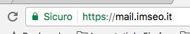 Messaggio di navigazione sicura per siti che hanno attivato l'https