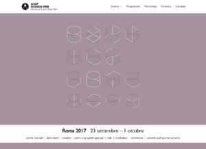 Il sito realizzato da Imseo per Aiap Design Per