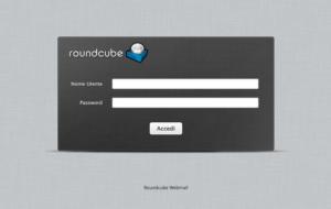 Fai login nella webmail Roundcube