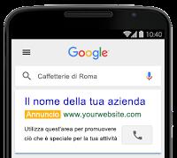 Annuncio AdWords per ricerche da smartphone